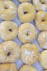 A lot of tasty donut