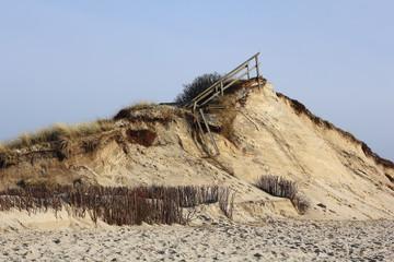 Sturmschaden an der Odde auf Sylt