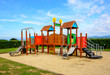 canvas print picture - Playground with blue sky