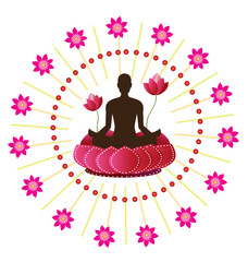 yoga lotus posture icon
