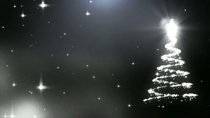 Christmast tree animation with stars