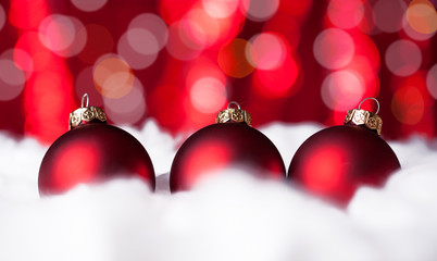 Christmas baubles isolated on white.Christmas decoration concept
