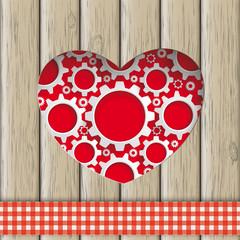 Heart Hole Gears Wood