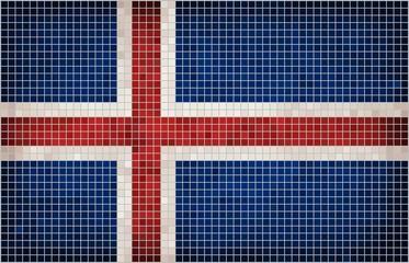 Mosaic Flag of Iceland