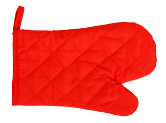 Red heat protective mitten