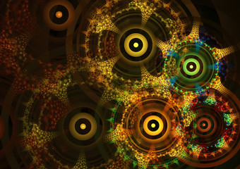 Abstract circle fractal background design