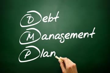 Debt Management Plan (DMP), business concept acronym