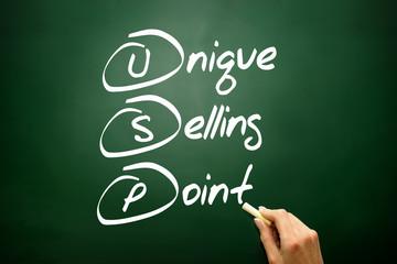 Unique Selling Point (USP), business concept acronym