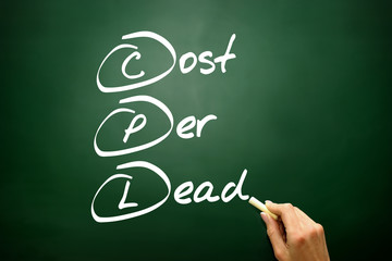 Cost Per Lead (CPL), business concept acronym