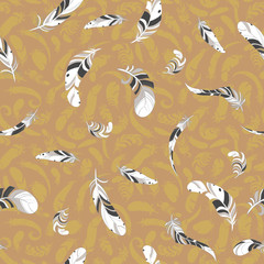feather pattern. vector background