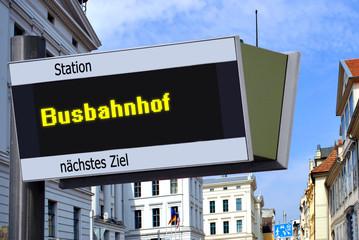 Strassenschild 27 - Busbahnhof