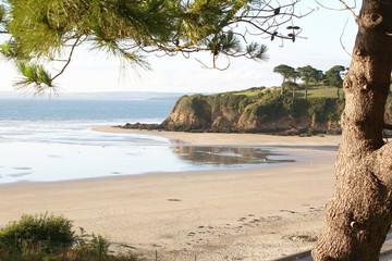 Panorama de la plage du Ris, Douarnenez, Finistère, Bretagne