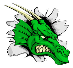 Dragon sports mascot breakthrough