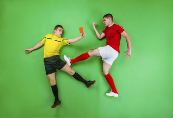 Football player and referee