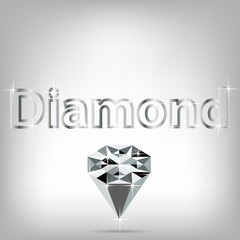 Background with crystal diamond