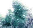 Leinwandbild Motiv aquamarine geode geological crystals