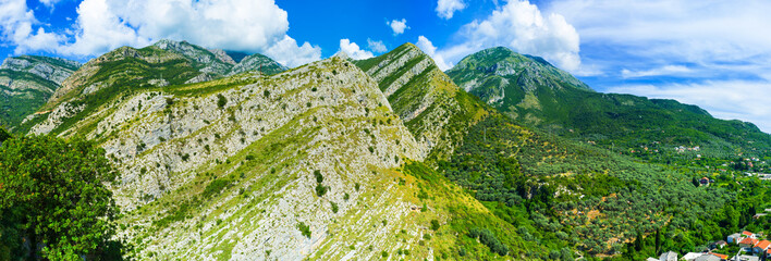 The mountains of Montenegro