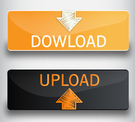 Download upload  web buttons