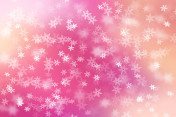 Colorful abstract background with snow flakes falling.