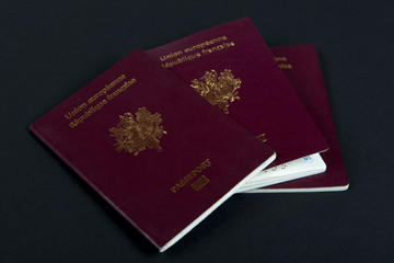 three french passports