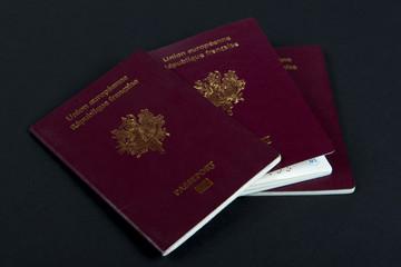 three french passports