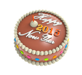 cake with text happy new year 2015