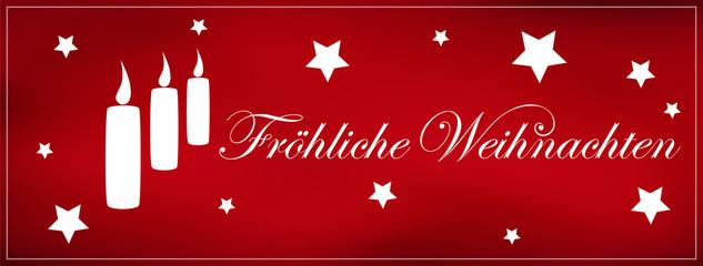 Fröhliche Weihnachten, Weihnachtskarte, Panorama, Flyer, Website
