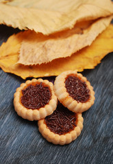 Orange filled biscuit