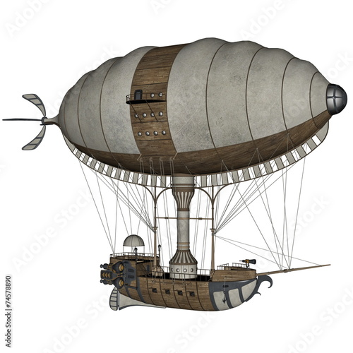 Hot air balloon - 3D render - 74578890