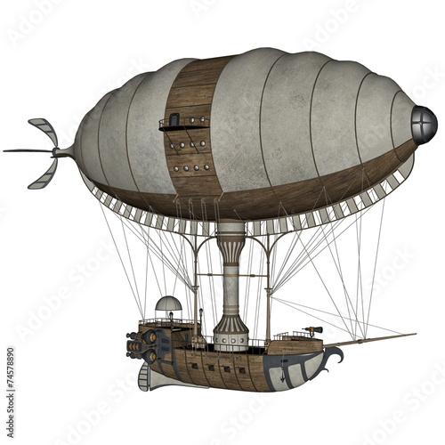 Hot air balloon - 3D render - 74578890