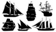 sailboat silhouettes - 74579057