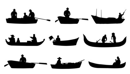 on boat silhouettes