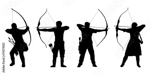 archer silhouettes - 74579021