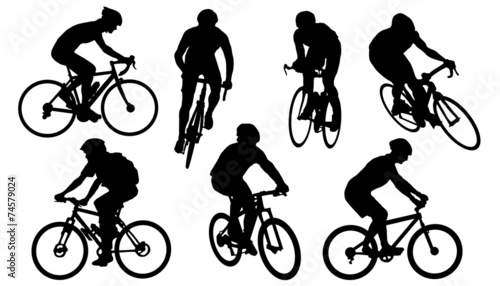 bike silhouettes - 74579024