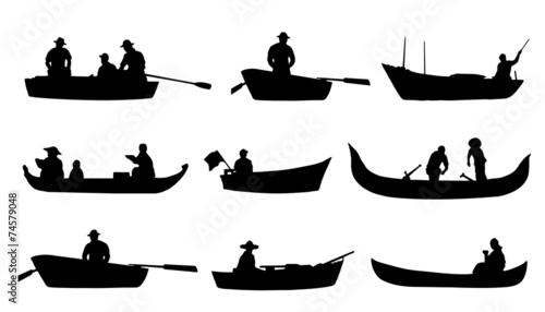 on boat silhouettes - 74579048