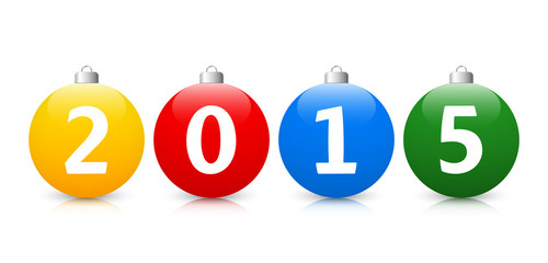 Colorful Christmas Balls 2 - Year 2015