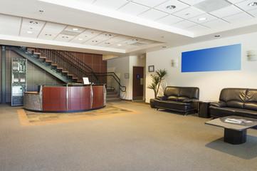Spacious office lobby