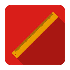 icon of ruler in flat design