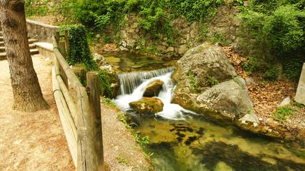 Saltos de agua del Torrent de la Garriga, Cercs, Barcelona