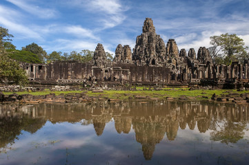 Bayon temple at Angkor Wat,