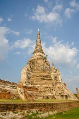 Ancient pagoda in Wat Phra Si Sanphet , Ayutthaya , Thailand