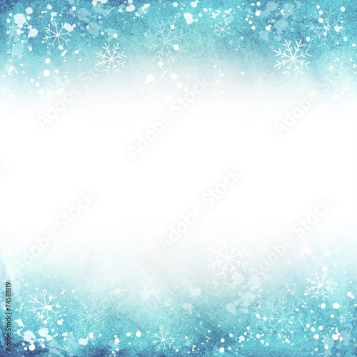 winter illustration. frame with snowflakes.  Vector