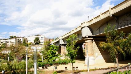 Puente o viaducto de Vallcarca en Barcelona