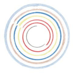 watercolor circles , rainbow, vector illustration
