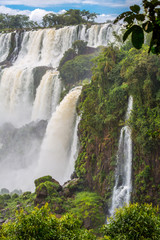 Terrace falls at Iguazu