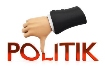 Politik Daumen runter
