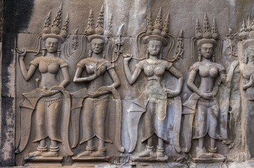 An Apsara in Angkor wat, Cambodia