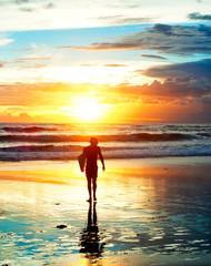 Sunset surfer, Bali
