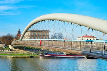 Krakow modern footbridge