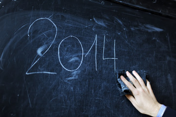 the student writes on a board - 2014